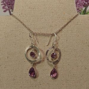 unknown Jewelry - 🆕 Amethyst & 925 Sterling Silver Wire Earrings